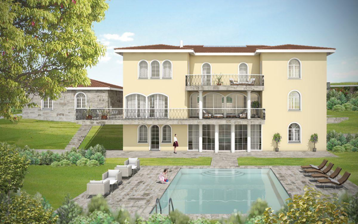 Villa landhausstil bauen landhaus villa landhaus villa for Moderne villen grundriss